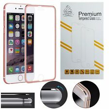 Metal Edge iPhone 6S/6 Rose Gold Gorilla Brand Screen Protector Tempered Glass