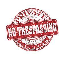 propiedad privada NO tresspassing KEEP OUT PEGATINA GRÁFICA Vinilo Etiqueta V2