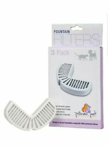 7 Pioneer Pet Filters for Ceramic & Stainless Steel Fountains Raindrop Filters