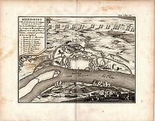 KAISERWERTH or KEYSERSWERT . . . . 290 YEARS OLD COPPERPLATE BATTLE MAP(1726)
