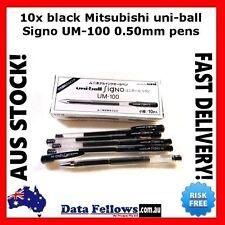 10x black Mitsubishi uni-ball Signo UM-100 0.50mm UM100 uniball pen stationery