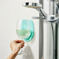 Plastic Wine Glass Holder For The Bath Shower Red Wine Glass Holder