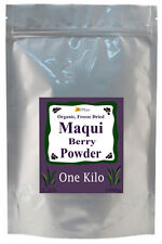 BULK Freeze Dried ORGANIC 100% Pure MAQUI Berry Powder ONE KILO 2+ Pound Non GM0