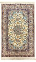 """Hand Knotted Wool Silk Ivory Fine New Oriental Rug Carpet 3'7"""" x 5'5"""""""