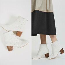 New $595 Rag & Bone Women's Drea White Calf Hair Boot size: US 9 EUR 39