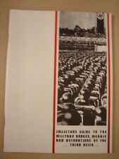 1969 Collectors Guide to Third Reich Badges - Medals - Ribbons Booklet