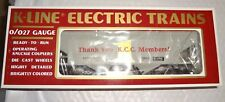K-LINE / LIONEL 0/027 1992 K-90002 THANK YOU KCC MEMBERS COVERED HOPPER CAR NEW