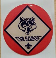 """CUB SCOUTS FULL COLOR 2""""  INCH EPOXY DOME CAR DECAL STICKER EMBLEM"""