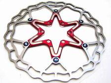 Disques de freinage de vélo rouge