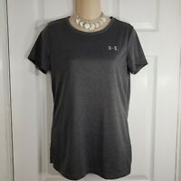 UNDER ARMOUR Size Small Heat Gear Loose Womens Gray Short Sleeve Shirt Top