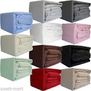 Flannelette 100%Brushed Cotton Duvet Cover Or Sheet Set (Fitted Flat+PillowCase)