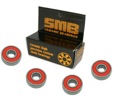 High Speed, Low Friction SMB Precision Ceramic Skate Bearings (4 bearings)