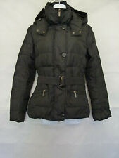 ADD Women's Black Jacket Full Zip Belted Hooded Size 8