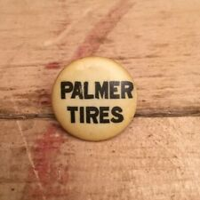 Antique 1890s 1900s Bicycle Stud Celluloid Button Pin Advertising PALMER TIRES