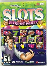 WMS Slots Super Jackpot Party PC DISC & COVER ART ONLY NO CASE EXCELLENT CONDITI