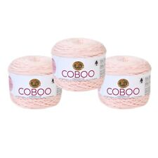 Lion Brand Yarn 835-102 Coboo Yarn, Pale Pink (Pack of 3 Cakes)