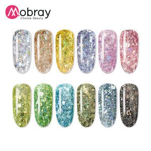 Japanese Style Nail Polish UV Colorful Glitter Gel Super Shining Soak Off Gel UK