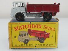 Lesney Matchbox 1961 #3 Bedford 7-1/2  Ton Tipper Truck Reg Wheels w/Orig. Box