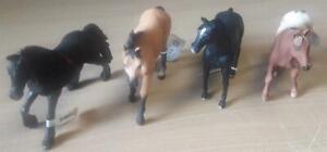 Pferde Set Schleich Friesen-Stute, Mojo Araber-Hengst, Quarter Horse, Appaloosa