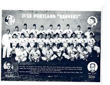 1958 PORTLAND BEAVERS PCL TEAM 8X10 PHOTO GARBER BERG  BASEBALL OREGON