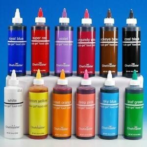 Chefmaster Liqua-Gel Food Coloring, 10.5 ounces - 24 Colors Available!