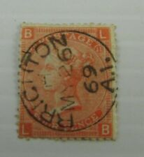 c1865 Great Britain SC #43 Plate II  lovely SON  CDS used stamp