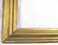 "ANTIQUE Fits 12"" X 19.5"" GOLD GILT WOODEN PICTURE FRAME FINE ART VICTORIAN"