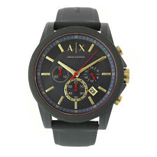 Armani Exchange Men's Ax1335 Black Silicone Quartz Sport Watch