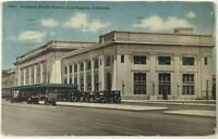 Postcard Los Angeles CA Southern Pacific Railroad Train Depot Station California