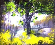 At the Brandywine Park. An Original Painting By Ro West.W/COA.