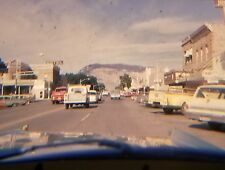ORIGINAL 1963 MAIN ST VIEW BUFFALO BILL CODY, WYOMING PHOTO COLOR 35mm SLIDE