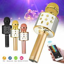 Bluetooth Wireless Karaoke Microphone Speaker Handheld Mic KTV Party Home Player