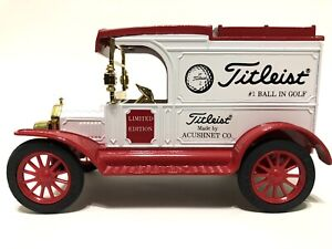 Ertl Toy Titleist Golf Balls 1913 Ford Model T Bank Limited Edition