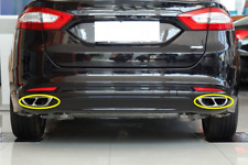 For Ford Fusion 2013 2014 2015 2016 Steel Rear cylinder exhaust pipe Cover  2PCS