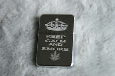 Personalised Free KEEP CALM and Smoke WEED Lighter Cannabis Leaf Smokers Gift 2