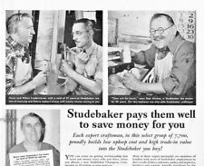1940 Studebaker Automobile Vintage Print Ad Pays Employees Well To Save Money