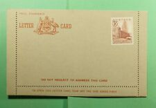 DR WHO NORFOLK ISLAND UNUSED AUSTRALIA LETTER CARD  f52783