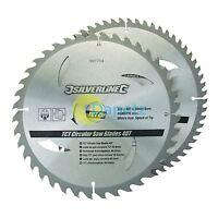 Qualité Lames de Scie Circulaire 250mm 40 & 60 Dents Tct Pack de 2