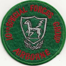 """EX/RARE ORIG VN/80's """"US 10TH SPECIAL FORCES GP, ABN, GERMANY"""" PATCH - F/EMB"""