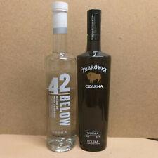 42 Below Vodka New Zealand und Zubrowka Czarna Wodka Polen 2 x 0,7 Liter