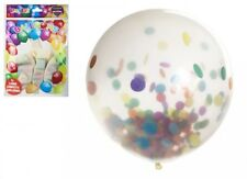 "20 X Large 17"" Fun Confetti Filled Party Balloons Wedding Birthday Baby"