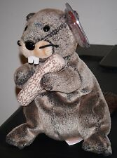 Ty Beanie Baby ~ LUMBERJACK the Beaver ~ MINT with MINT TAGS ~ RETIRED