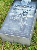 Headstone Grave Stone Marker Engraved Monument Black Granite 16x8x4 Cemetery 8