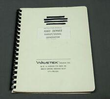 Wavetek 1060 Sweepsignal Generator Instruction Manual Vgc