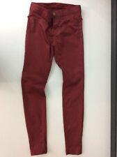 J BRAND Manteau Rouge Jeans Leggings W26 L30 Skinny Stretch