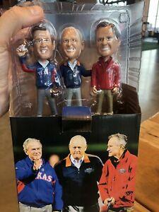 Texas Rangers NOLAN RYAN GEORGE W/HW BUSH bobblehead SGA Texas Rangers