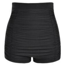 Women Plus Size High Waist Bikini Bottoms Swim Beach Shorts Ruched Bottom CA