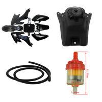 Black Plastics Fender Fairing Fuel Gas Tank Fuel Hose Filter for CRF50 Pit Bike