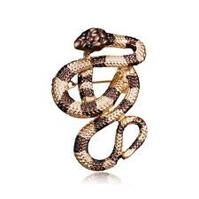 Fashion Womens Men Snake Animal Jewellery Rhinestone Crystal Insect Brooch Pin