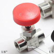 "Needle valve Ball valve 1/8"" inch NPT Stainless Steel High pressure Water Gas US"